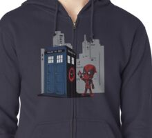 Defacing the Phonebox Zipped Hoodie