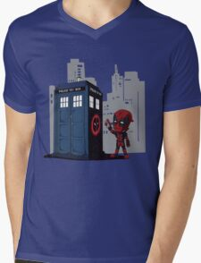 Defacing the Phonebox Mens V-Neck T-Shirt