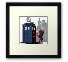 Defacing the Phonebox Framed Print