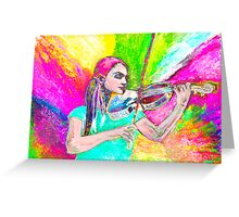 Dance me ( Dance me to your beauty with a burning violin) Greeting Card