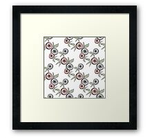 Seamless floral pattern with roses background Framed Print