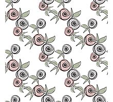 Seamless floral pattern with roses background Photographic Print