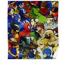Superhero Fan Fiction Face\Off Poster