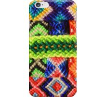 Colorful Threads in Woven Bracelets iPhone Case/Skin