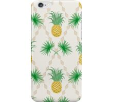 Exotic tropical seamless pattern palm branches and pineapples iPhone Case/Skin