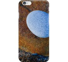 Tranquil Zen Stacked Blue Copper Small Large Beach Stones Rocks Pebbles Sand Strength Support iPhone Case/Skin