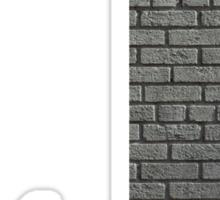 The Letter J - brick wall Sticker