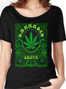 CANNABIS SATIVA Women's Relaxed Fit T-Shirt