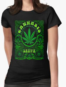 CANNABIS SATIVA Womens Fitted T-Shirt