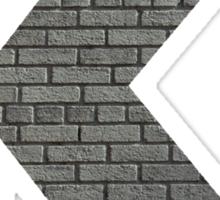 The Letter K - brick wall Sticker