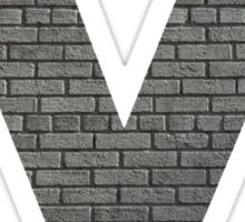 The Letter M - brick wall Sticker