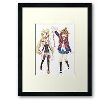 Kongou and Karen cross-over Framed Print