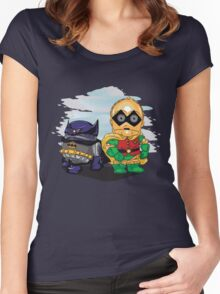 Bat-D2 and Rob-3PO Women's Fitted Scoop T-Shirt