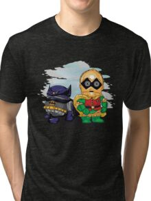 Bat-D2 and Rob-3PO Tri-blend T-Shirt