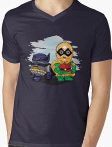 Bat-D2 and Rob-3PO Mens V-Neck T-Shirt