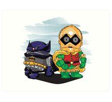 Bat-D2 and Rob-3PO Art Print