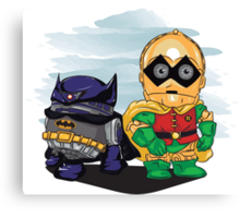 Bat-D2 and Rob-3PO Canvas Print