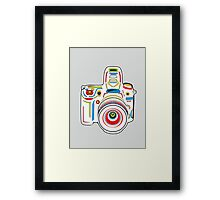 Rainbow & Grey Camera Fun Framed Print