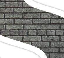 The Letter S - brick wall Sticker