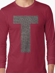 The Letter T - brick wall Long Sleeve T-Shirt