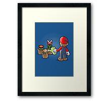 Mario gardener Framed Print