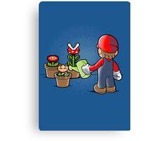 Mario gardener Canvas Print