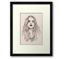 Girl. Framed Print