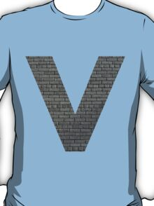 The Letter V - brick wall T-Shirt