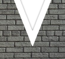 The Letter V - brick wall Sticker