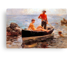 Orange Jersey by Henry Scott Tuke Canvas Print