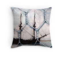 Behind wire Throw Pillow