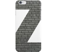 The Letter Z - Brick wall iPhone Case/Skin