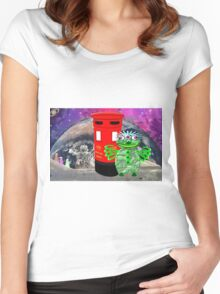 Dr WHAT is in for a Surprise Women's Fitted Scoop T-Shirt