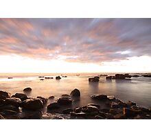 At Coalcliff village sea Photographic Print