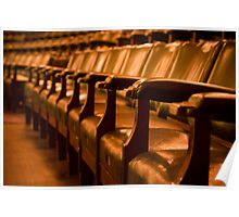 Overstuffed Theatre Chairs Poster