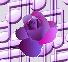 Purple Music Notes Purple Rose by moondreamsmusic