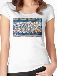 SYDNEY GRAFFITI 30 Women's Fitted Scoop T-Shirt