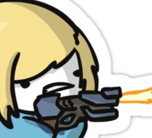 Super Smash Boos - Zero Suit Samus Sticker