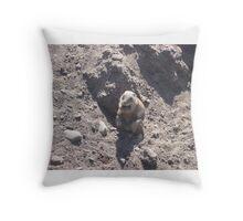 Fat Groundhog Throw Pillow