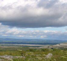 Irish Horizon in the Burren Sticker