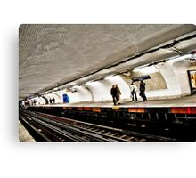 Inside Paris Metro Canvas Print