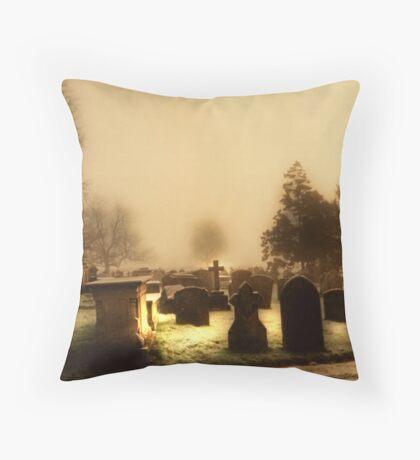 Sunrise Cemetary Throw Pillow
