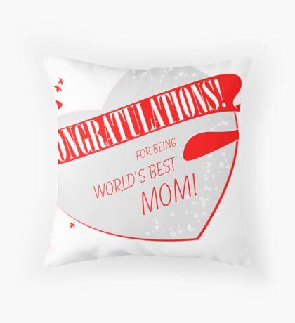 Congratulations! Throw Pillow