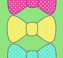 Kawaii Polka dot bow by Elizabeth Escalera