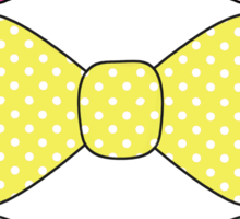 Kawaii Polka dot bow Sticker