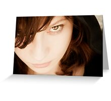 Mysterious girl Greeting Card