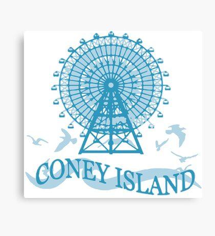 Coney Island - New York. Canvas Print