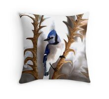 Special Effects of the Blue Jay. Throw Pillow