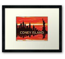Coney Island - New York. Framed Print