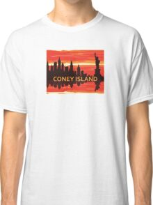 Coney Island - New York. Classic T-Shirt
